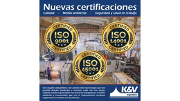 New ISO9001 ISO14001 ISO45001 Certifications